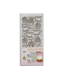 Tea en Cupcake stickers combi set Gold Lia pink 617568_small