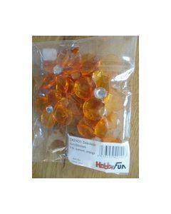 Acry bloemen Trendy Dekoratie 9st sortie orange 3860301_small