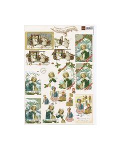 Vintage Knipvel dames meisjes Kerst VK9506_small