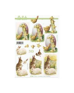 Le Suh 777.160 Kippen en konijnen Knipvel_small
