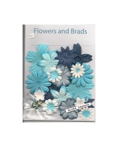 Flowers and Brads mix Blauw 8717973494621_small