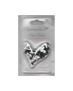 Papermania Velvet Brads zwart wit 3741502