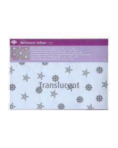 Perkament Vellum Sterren en ijskristallen Zilver 2520_small