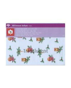 Perkament Vellum Kerst 90gr 5 vellen 1 motief 2518_small