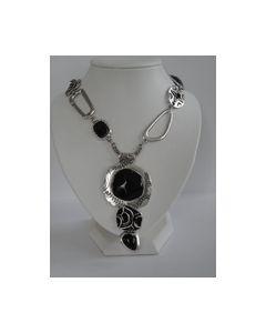 Collier zwart met zilver kleur 0000005_small