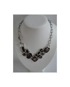 Collier Zwart donker bruin met zilver 0000009_small