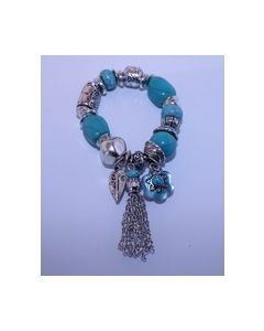 Armband Turquoise Zilver kleurig 0004009_small