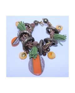 Armband gras Bruin oranje groen 000412_small