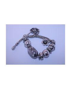 Armband zwart zilverkleurig 000414_small