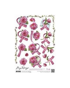 3D Knipvel - Amy Design - Pink Ribbon CD10399_small
