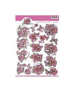 3D Knipvel - Amy Design - Pink Ribbon CD10427_small