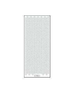 Glitter sticker 7056 sterretjes transparant zilver_small