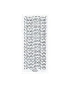 Glitter sticker vel sterretjes 7056 zilver_small