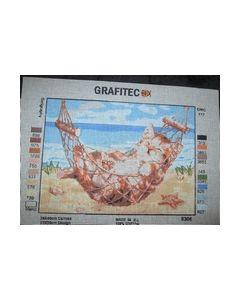 Voorbedrukt Stramien 22x36 cm Poes in hangmat 6306_small
