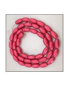 44 st glazen sierkralen 10x19 mm oval rood 98619 01_small