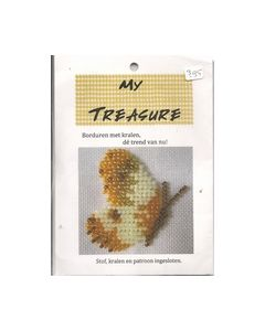 Borduren met kralen vlinder 17020 My Treasure