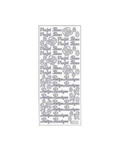 Sticker tekst Vrolijk Pasen 280 zilver_small