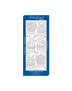 Sticker Pasen goud 181 Bloemen.ei met paashaas ei met kip_small