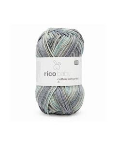 RICO BABY COTTON SOFT PRINT DK 19 GREY-TURQUOISE_small