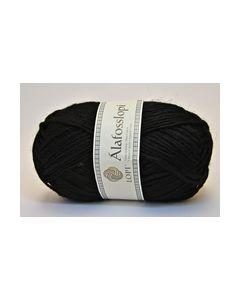 Alafosslopi 0059 100gram Zwart 100% Ijslandsewol 5.5-6.5_small