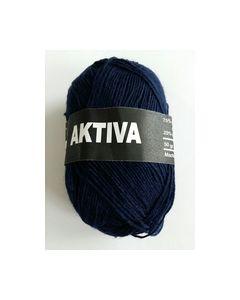 AKTIVA sokken wol kleur 9012 beijer donker Blauw 50 gram_small