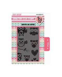 Uchi's Design Animation Clear Stamp Flying Owls (AS6) 819259_small