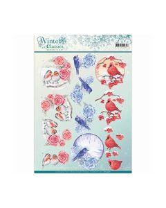 3D Knipvel Jeanine's Art winter classics Christmas BirdCD109_small