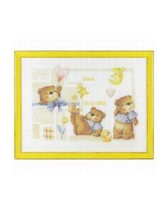 Geboortetegel Claire: 3 beertjes 226.330_small
