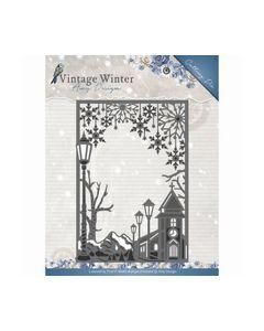 Die - Amy Design - Vintage Winter - Village Frame Straight_small