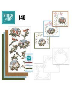 Stitch and Do 140 Amy Design Nostalgic Christmas Birds STDO140