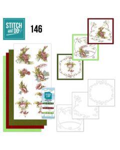 Stitch and Do 146 Precious Marieke Red Flowers STDO146