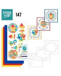 Stitch and Do 147 Jeanine's Art Happy Birthday STDO147