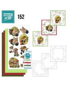 Stitch and Do 152  Amy Design  Forest Animals STDO152